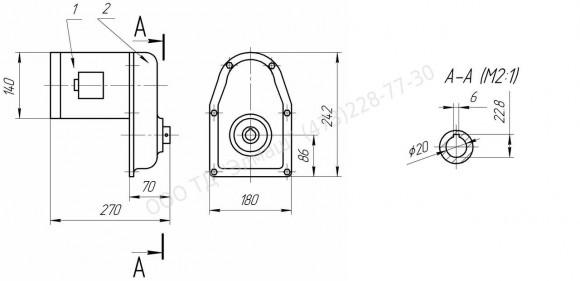Мотор-редуктор с приводным валиком